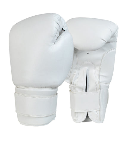 Recruit No Logo Boxing Gloves White