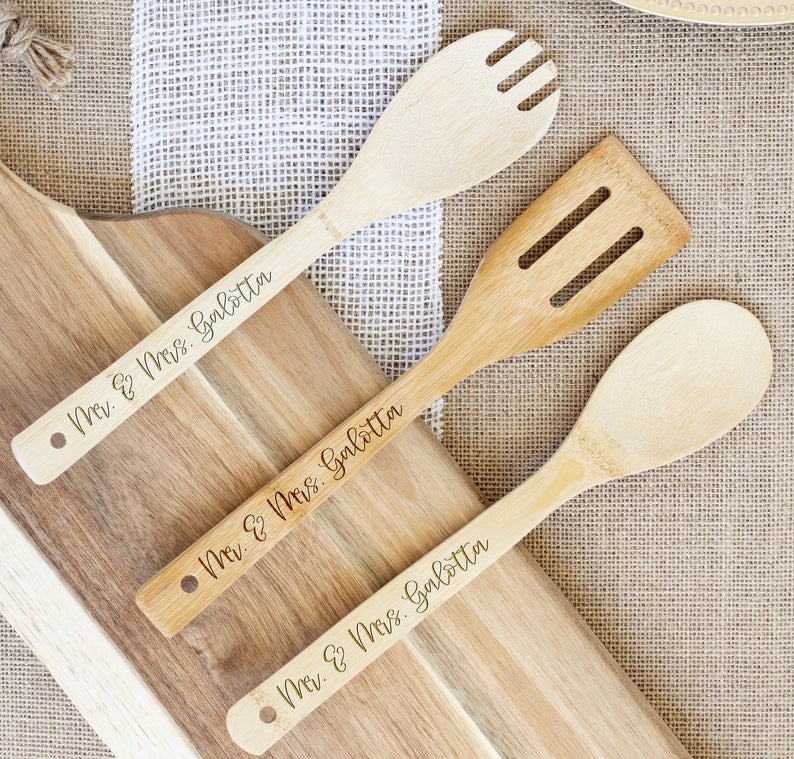 Mr. & Mrs. Set of 3 Cooking Utensils