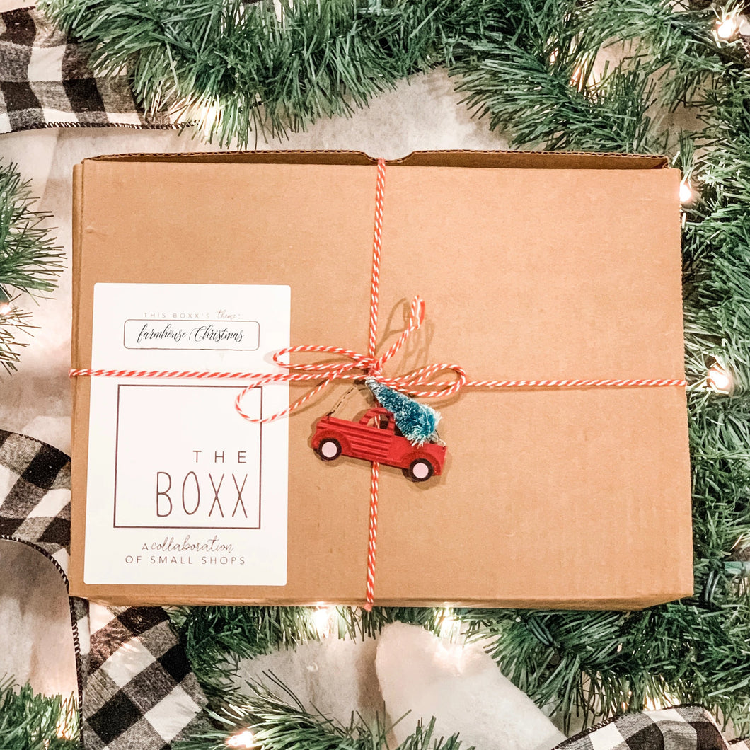 Surprise Farmhouse Christmas Boxx [LARGE]- Specially curated box of Farmhouse Christmas-Inspired Holiday Decor & Items