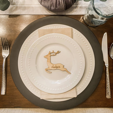 Christmas Reindeer Table Setting