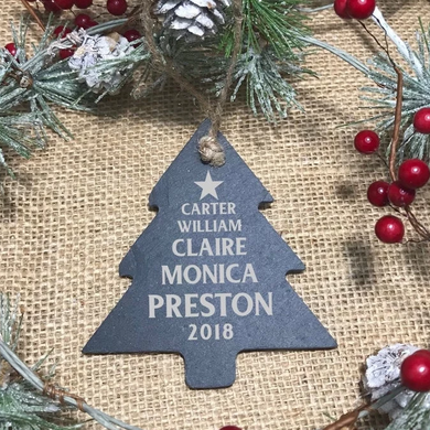 Slate Tree Ornament