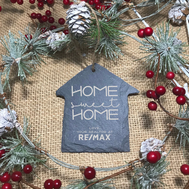 Home Sweet Home Slate House Ornament