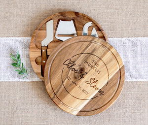 Family Name Circular Cheese Board