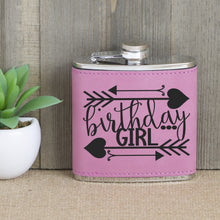 Load image into Gallery viewer, Birthday Girl with Arrows Flask
