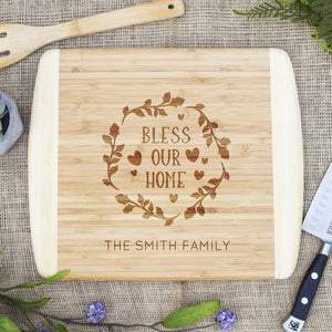 Bless Our Home Two Tone Cutting Board