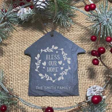 Bless Our Home Heart Ornament