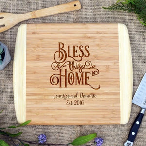 Bless This Home Two Tone Cutting Board