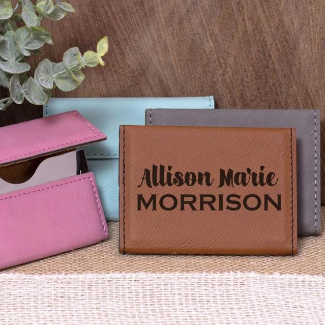 Name on Business Card Holder