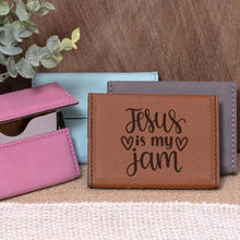 Load image into Gallery viewer, Jesus is my Jam Business Card Holder