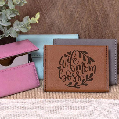 Wife Mom Boss Business Card Holder