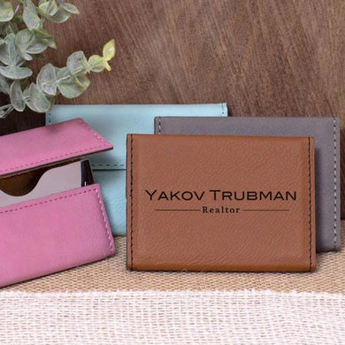Name and Title Business Card Holder