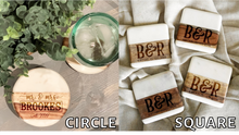 Load image into Gallery viewer, Family Marble/Wood Coaster Set