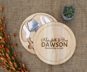 Married Circular Cheese Board
