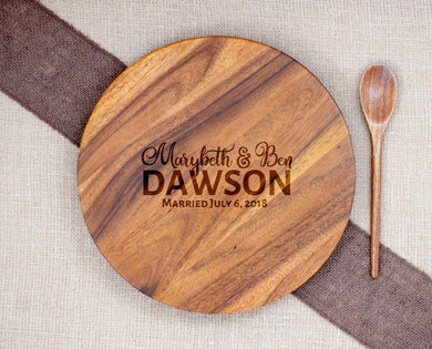 Personalized Lazy Susan First and Last Name