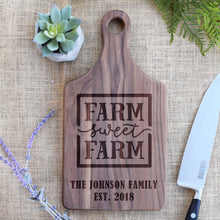 Load image into Gallery viewer, Farm Sweet Farm with Family Name and Est. Year Paddle Board