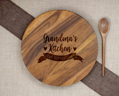 Grandma's Kitchen Love Served Daily Lazy Susan