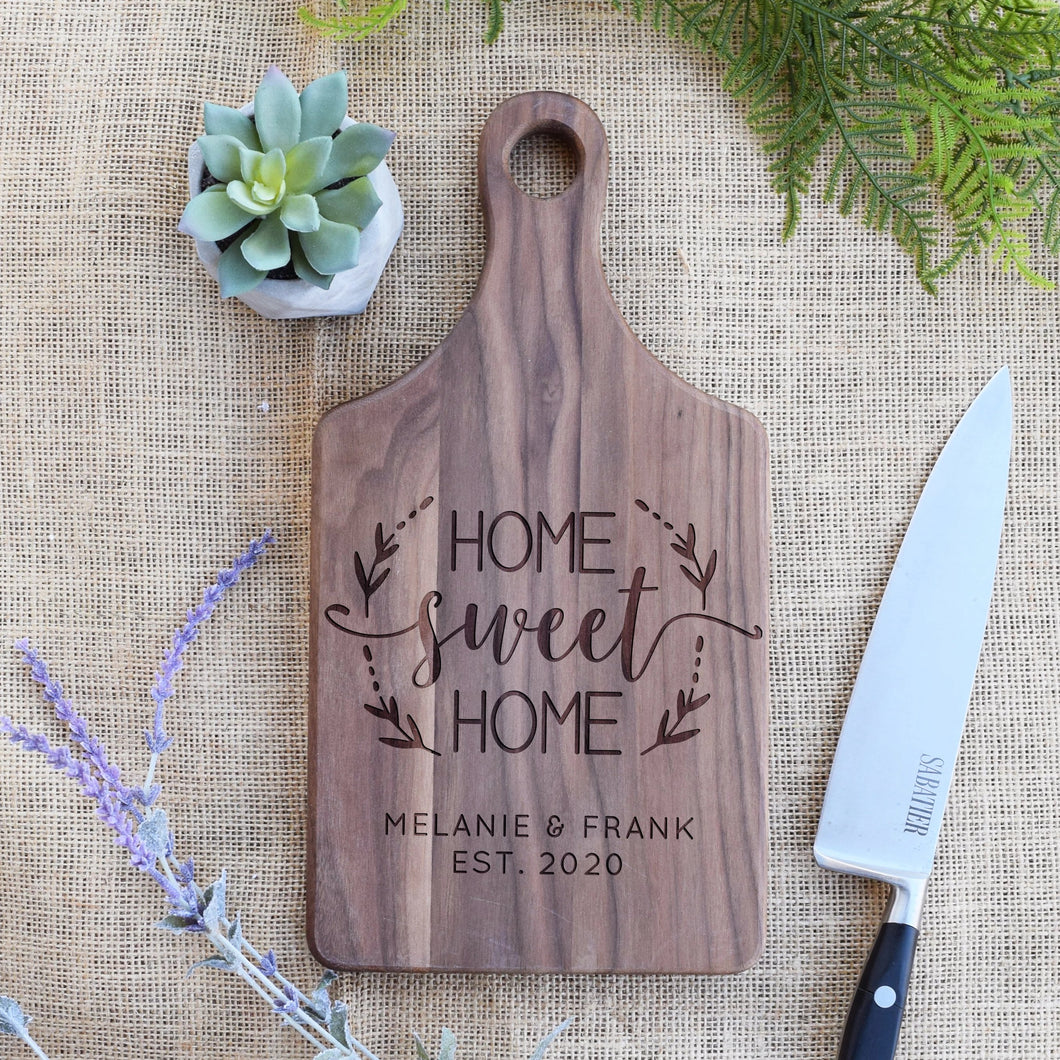Home Sweet Home Wreath - Family Name and Est. Year Paddle Board