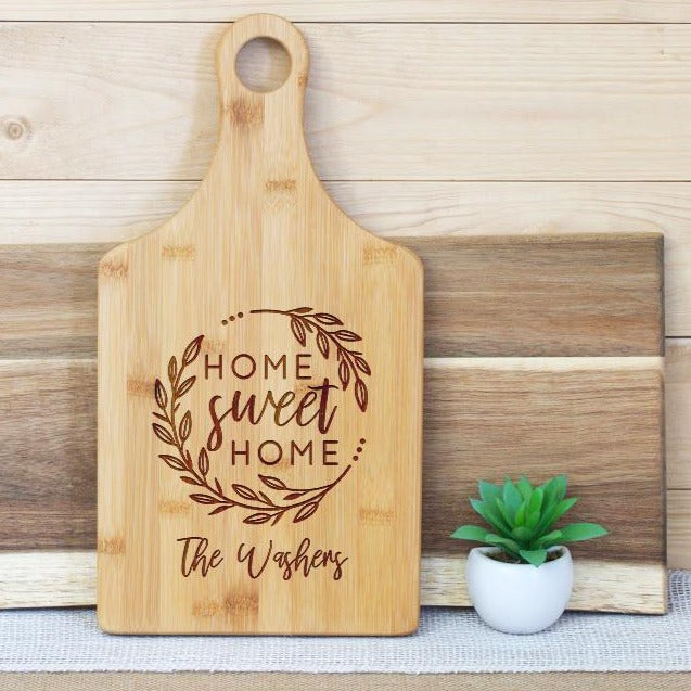 Home Sweet Home Wreath and Family Name Paddle Board