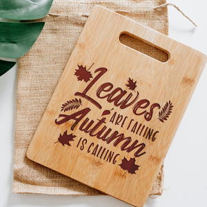 Leaves Are Falling Autumn Is Calling Rectangular Board