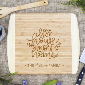 Less House More Home Two Tone Cutting Board