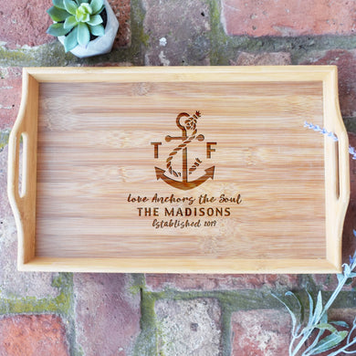 Love Anchors the Soul Serving Tray