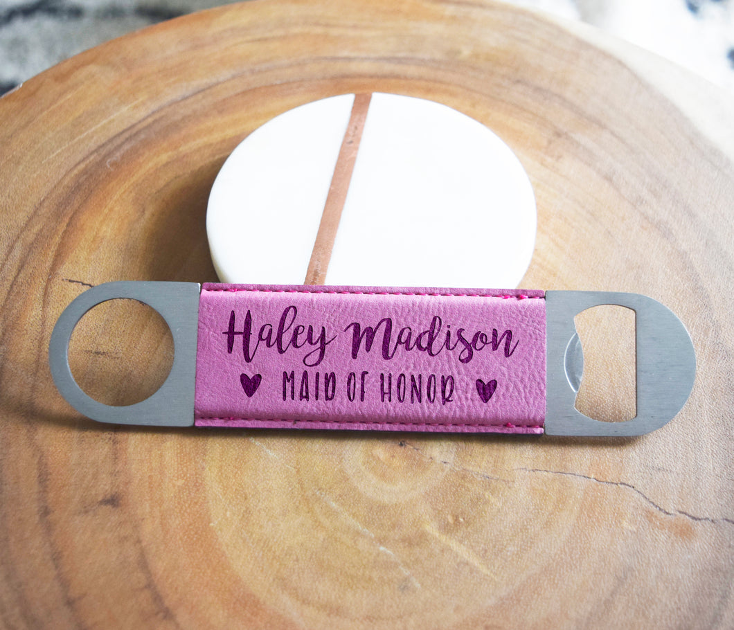 Maid of Honor Heart Bottle Opener