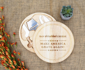 Make America Grate Again Trump Circular Cheese Board