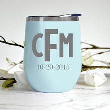 Load image into Gallery viewer, Monogram Block Letters Tumbler