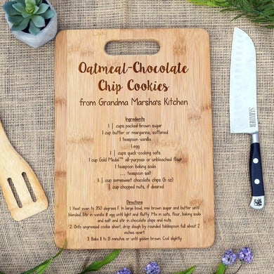 Personalized Recipe Rectangular Board