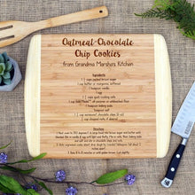 Load image into Gallery viewer, Personalized Recipe Two Tone Cutting Board