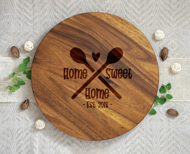 Home Sweet Home Spatula Established Year Lazy Susan