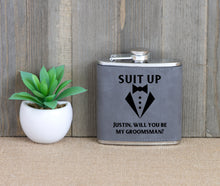 Load image into Gallery viewer, Suit Up - Will You Be My Groomsman Flask