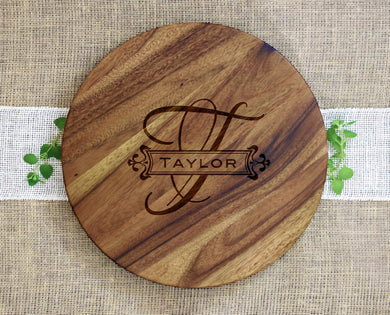 Last Name and Initial Lazy Susan