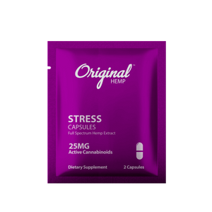 CBD For Stress | Stress Capsules (25mg) - Daily Dose | Original Hemp