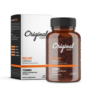 Relief Capsules (750mg) | Full Spectrum Hemp Extract - OriginalHemp