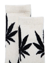 Load image into Gallery viewer, Hemp Leaf Crew Socks - White