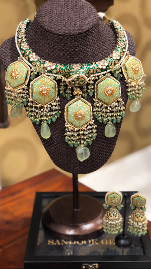 Rajasthani Hasli in light green