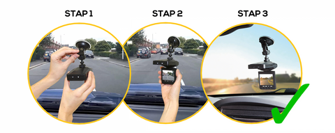 3 staps installatie Viz Car Dashcam Best Direct
