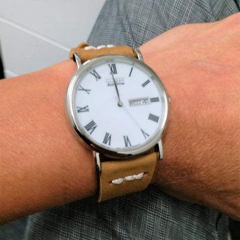 vintage leather strap for Citizen