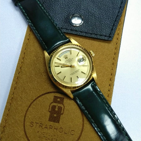 rolex day date leather strap / rolex 馬臀皮帶