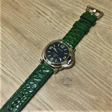 Green Alligator Leather Handmade Watch Strap w/ Buckle For Panerai - Strapholic_錶帶工房, Rolex, IWC, Panerai, AP, Cartier, Tudor, Omega, Watch_Bands