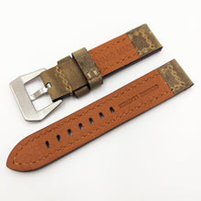 Trombone Yellow Vintage Style Calf Leather Watch Strap w/ Buckle - Strapholic_錶帶工房, Rolex, IWC, Panerai, AP, Cartier, Tudor, Omega, Watch_Bands
