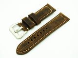 Fawn Yellow Calf Leather Watch Strap w/ Buckle For Panerai - Strapholic_錶帶工房, Rolex, IWC, Panerai, AP, Cartier, Tudor, Omega, Watch_Bands