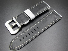 White Square-Embossed Calf Leather Watch Strap w/ Buckle For Panerai - Strapholic_錶帶工房, Rolex, IWC, Panerai, AP, Cartier, Tudor, Omega, Watch_Bands