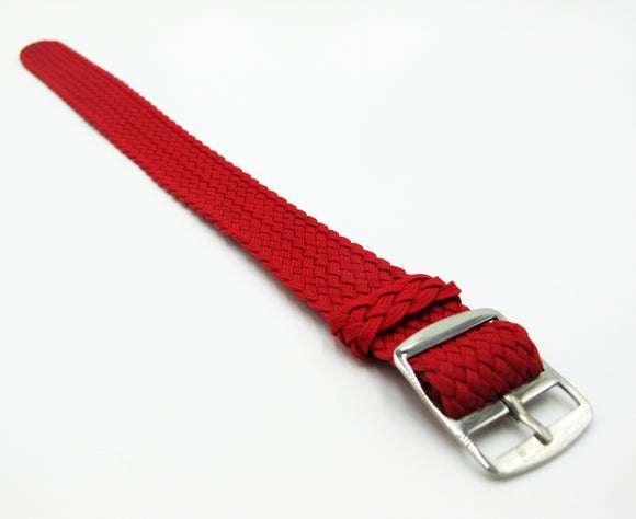 Red Nato Style Nylon Watch Strap w/ Tang Buckle - Strapholic_錶帶工房, Rolex, IWC, Panerai, AP, Cartier, Tudor, Omega, Watch_Bands