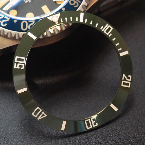 Rolex Submariner Style Green Ceramic Bezel Insert - Strapholic_錶帶工房, Rolex, IWC, Panerai, AP, Cartier, Tudor, Omega, Watch_Bands