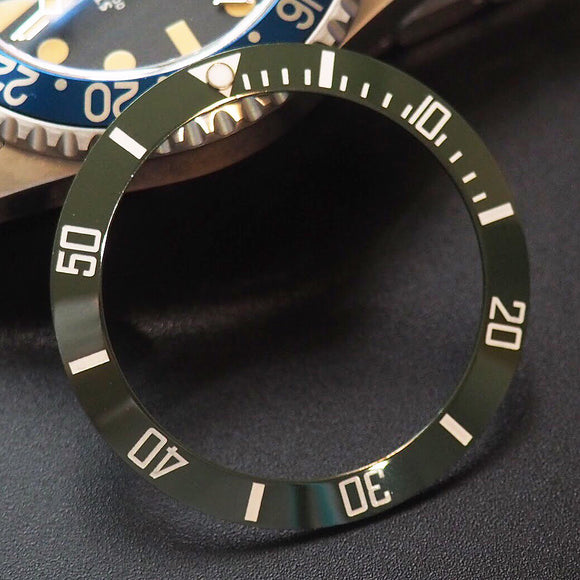 Rolex Submariner Style Green Ceramic Bezel Insert