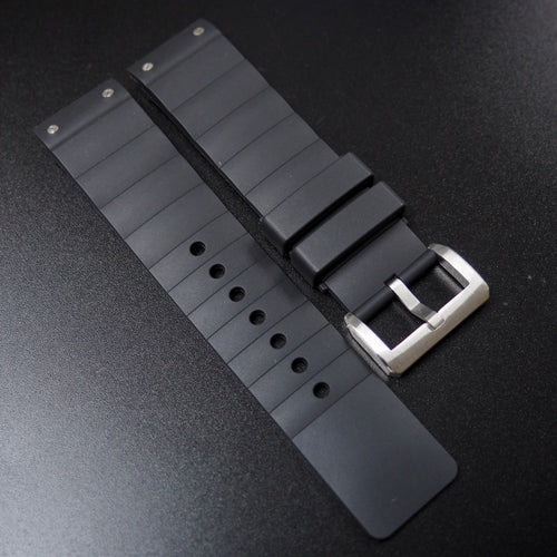 Black Premium Rubber Watch Strap w/ Tang Buckle For Cartier Santos 100 XL - Strapholic_錶帶工房, Rolex, IWC, Panerai, AP, Cartier, Tudor, Omega, Watch_Bands