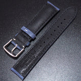 Blue Italian Calf Leather Watch Strap - Strapholic_錶帶工房, Rolex, IWC, Panerai, AP, Cartier, Tudor, Omega, Watch_Bands