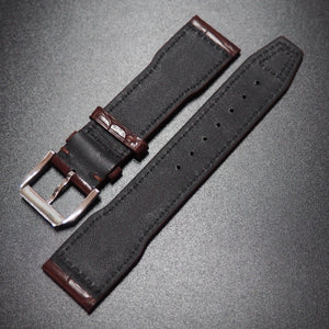 IWC Style Barn Red Alligator Leather Watch Strap - Strapholic_錶帶工房, Rolex, IWC, Panerai, AP, Cartier, Tudor, Omega, Watch_Bands